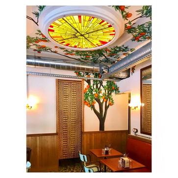 Création Plafonnier restaurant La Tripletta Paris 5