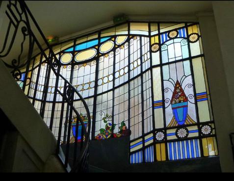 Restauration vitraux Art Déco