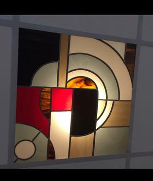 Le vitrail en dalle de plafond ! style Art Déco