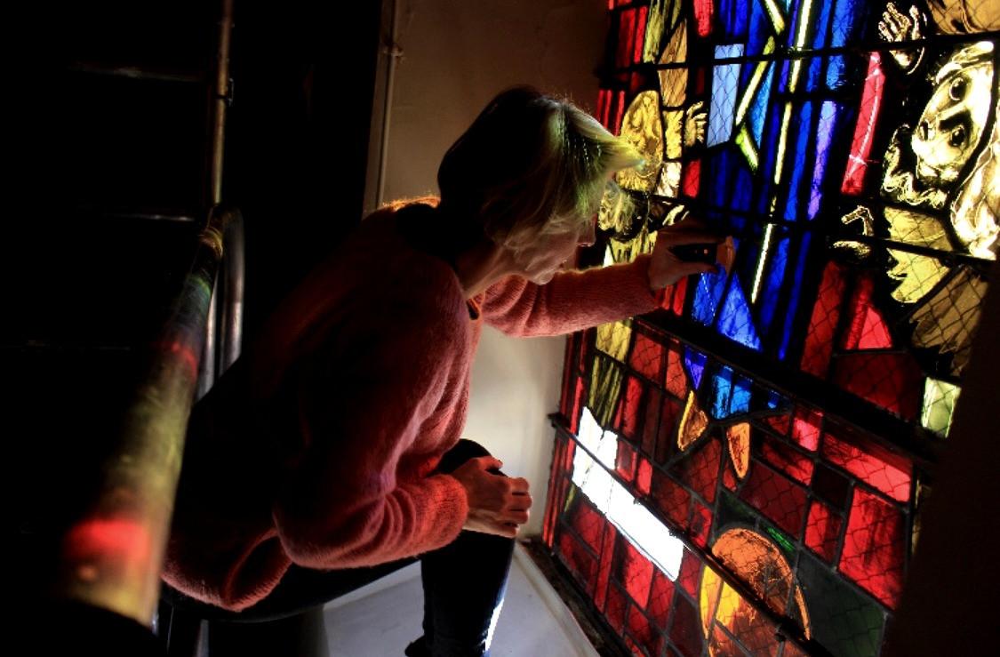 Restauration vitraux début 20ème