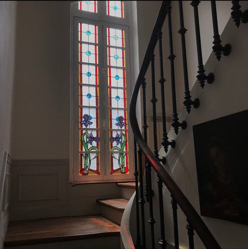 Restauration vitraux Art Nouveau