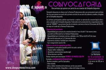 Abierta convocatoria para nuestro próximo espectáculo. Artistas en Bogotá!.