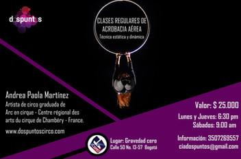 Curso regular de acrobacia aérea en Gravedad Cero, Bogotá