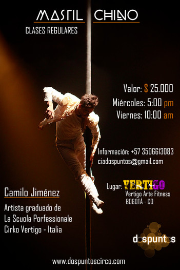 Curso regular de Mástil chino en Vértigo Arte Fitness, Bogotá