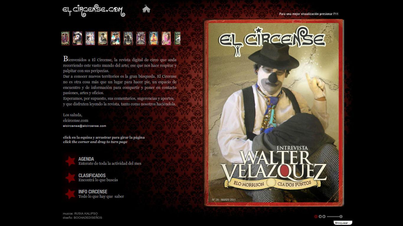 """Articulo en revista española """"El Circense"""" 2010"""