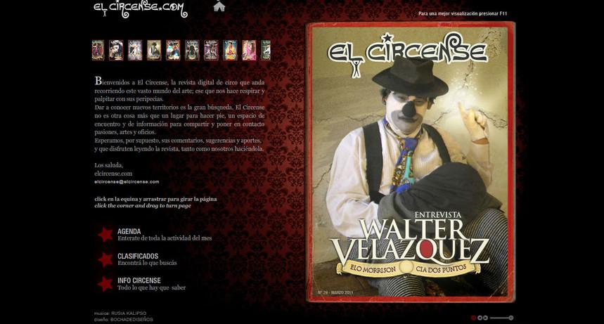 """Article in Spanish magazine """"El Circense"""" 2010"""