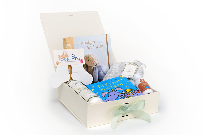 The Dreamland Tree Sapling Box of gifts for new babies
