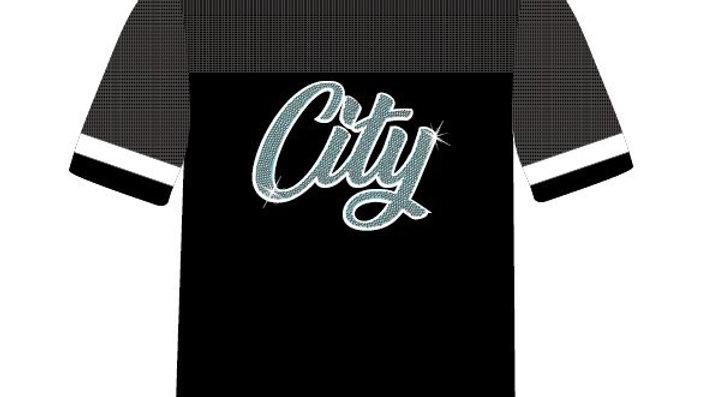 Mesh Bling CITY T-shirt