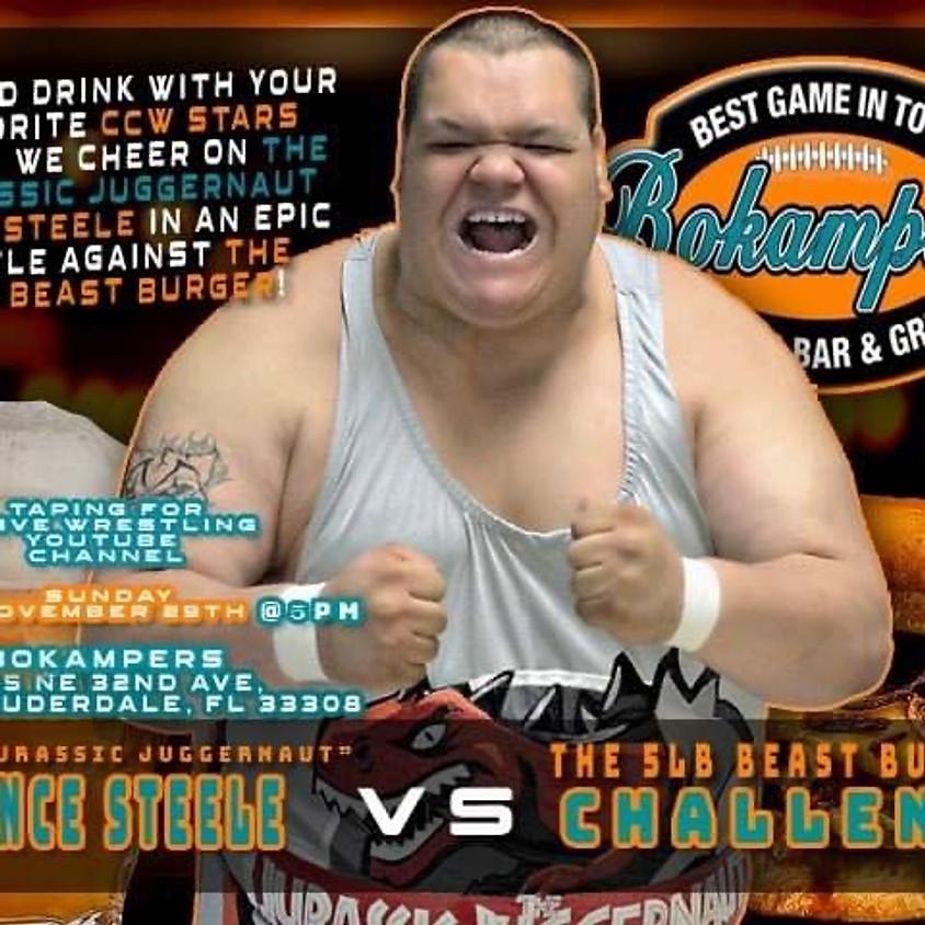 Vince Steele vs the 5lb beast burger challenge