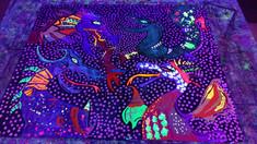 Dragon Mural Glowing!