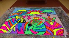 Black Light Camp Mural