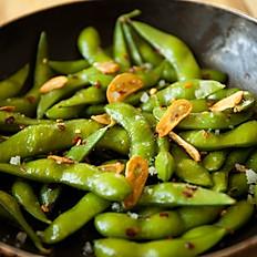 Edamame w/Garlic Herb & Olive Oil