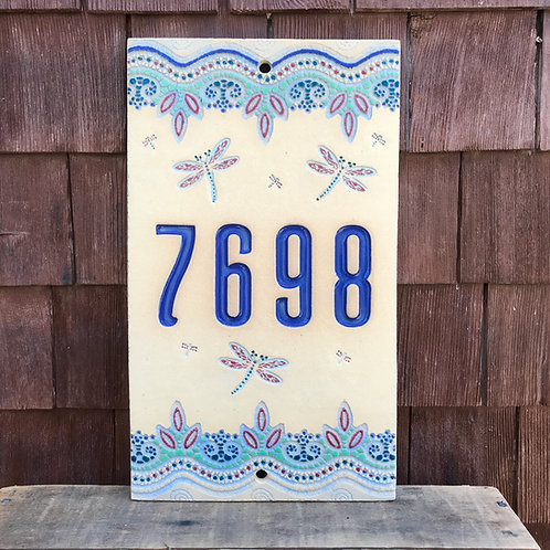 Custom House Number Sign DRAGON FLY