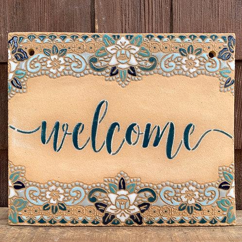 Welcome Sign Vintage Script Font