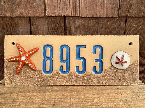 Custom House Number Sign BEACH