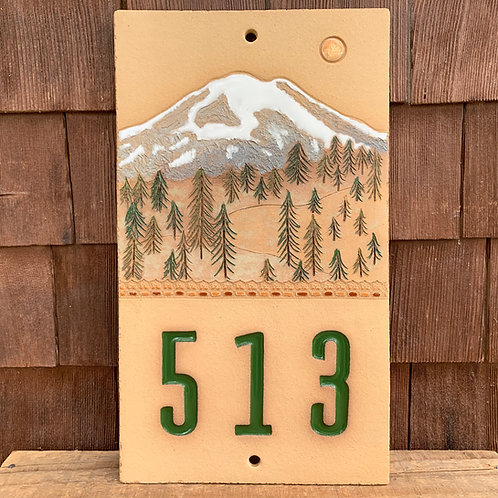 Custom House Number Sign MOUNT RAINIER