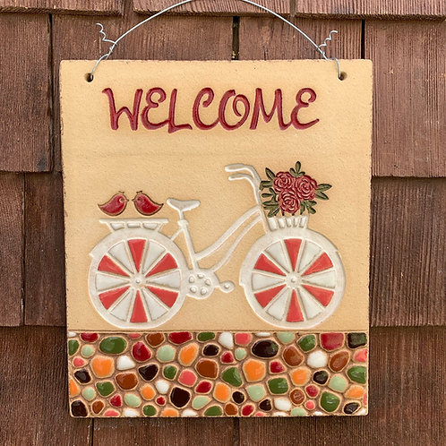 Welcome Sign BICYCLE