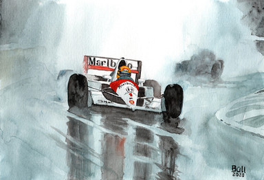 Senna under the rain