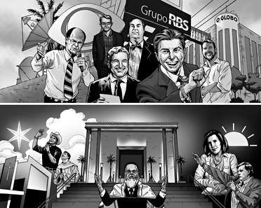 Who controls the media in Brazil?