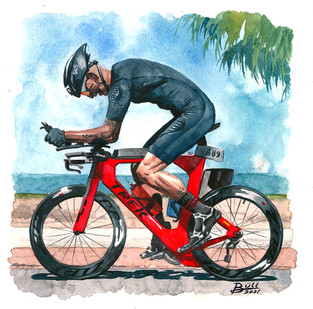 Biker on a triathlon