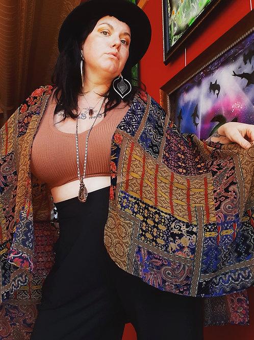 Burnout Velvet Kimono