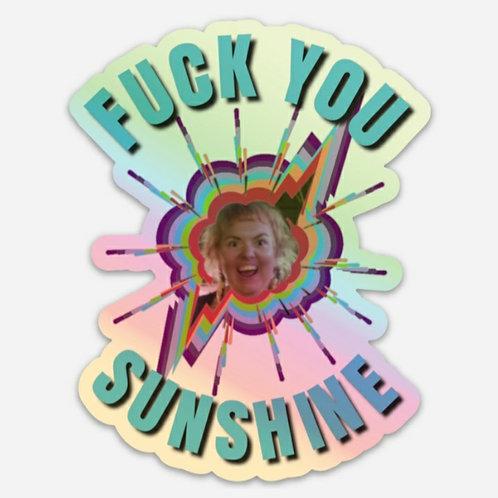 "4x4"" Holographic Sunshine Sticker"