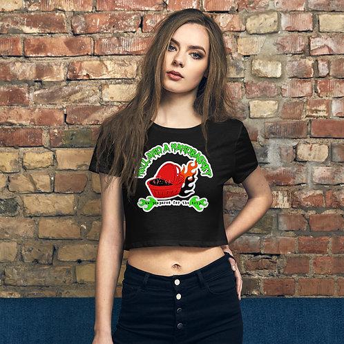 Women's Crop Hell and a Handbasket Logo Tee