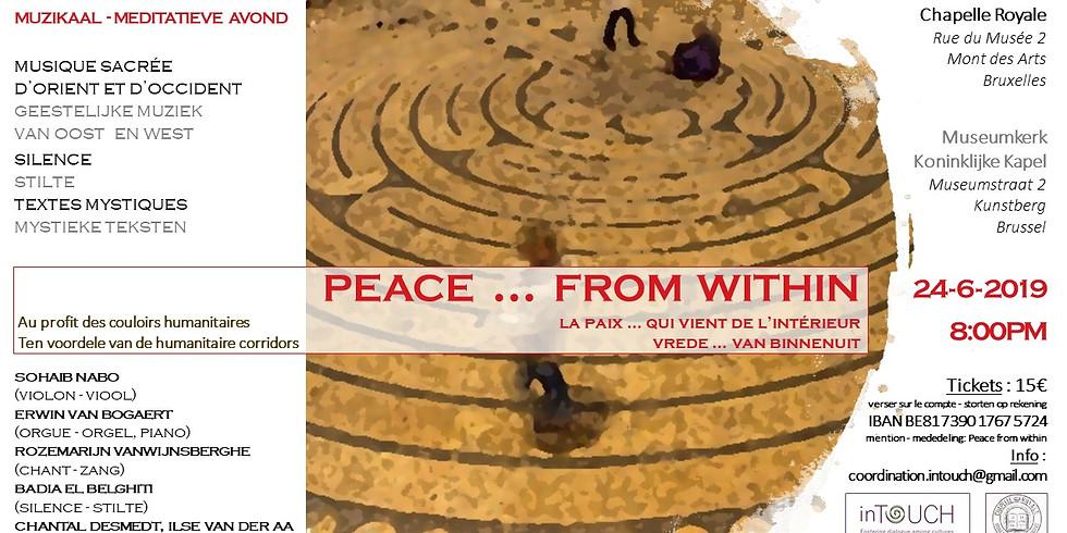 """Soirée musico-méditative et participative """"Peace ... from within"""""""