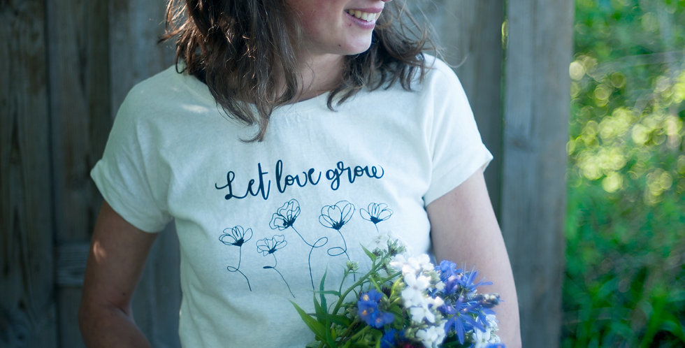 T-shirt LET LOVE GROW - volw.