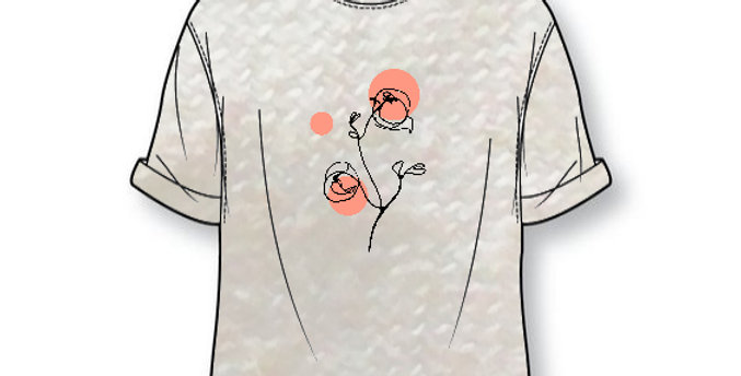 T-shirt  PEONYLOVE - volw.
