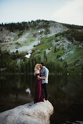 Engagement session colorado mountian scenic session