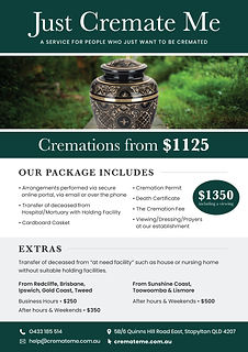Cremations Only $1125 Brochure