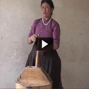 Making Yak Butter