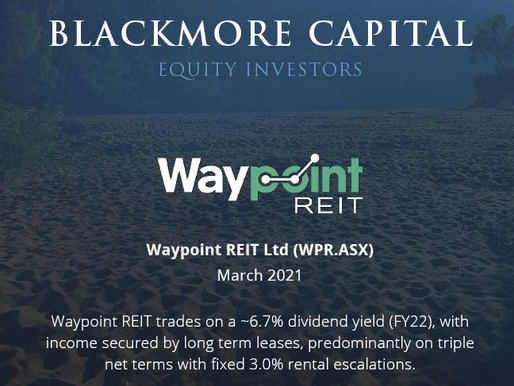 Blackmore Capital Investment Briefing - Waypoint (WPR)