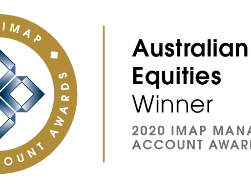 Winner - Australian Equities - IMAP Managed Account Awards 2020