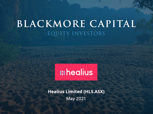 Blackmore Capital Investment Briefing - Healius (HLS)