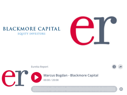 Alan Kohler & Eureka Report Podcast | Marcus Bogdan, CIO Blackmore Capital