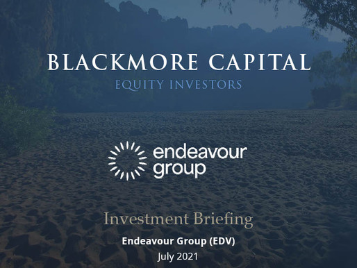 Blackmore Capital Investment Briefing | Endeavour Group (EDV)