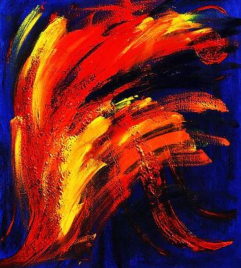 Fireworks- Öl/Pigment auf Leinwand by Susanna Vierkoetter