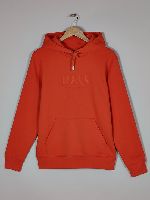 BY11 Organic Cotton Embroidered Logo Hoodie - Orange