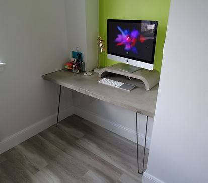 Concrete Desk Alan Nisbet Bespoke Furniture