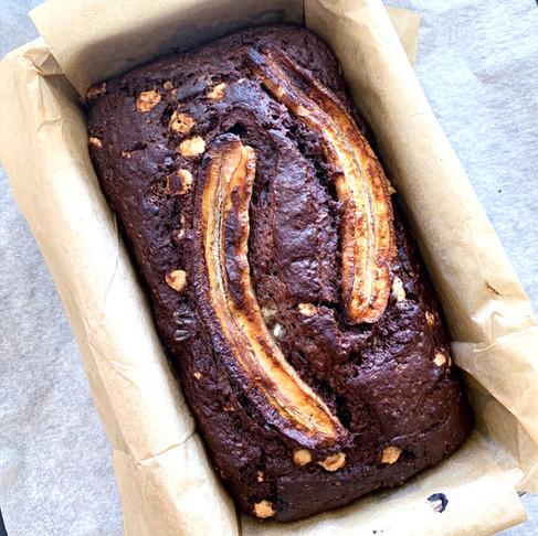 עוגת בננה ושוקולד