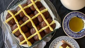 לחמניות תבלינים ושוקולד של פסחא