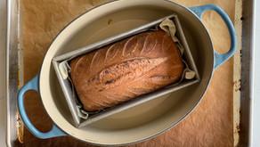 לחם מחמצת עם בטטה סגולה