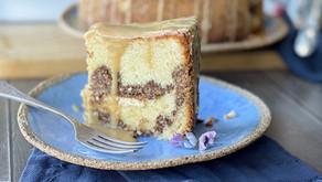עוגת קפה עם שטרוייזל וגבינת שמנת