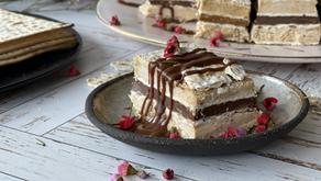 עוגת מצות חמאת בוטנים ושוקולד