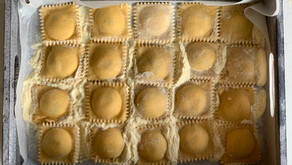 פסטה ביתית ורביולי במילוי גבינות