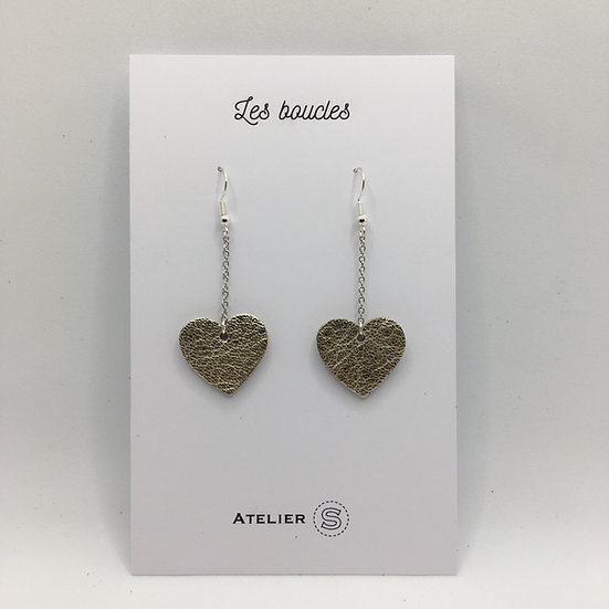 Boucles d'oreilles mini cœur doré