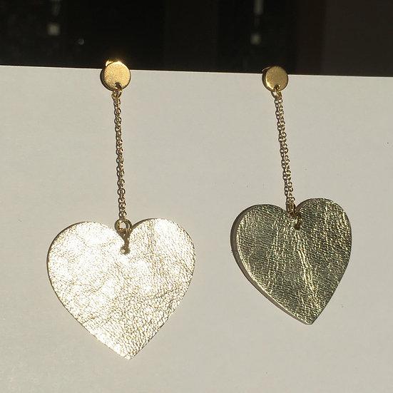 Boucles d'oreilles cœur doré
