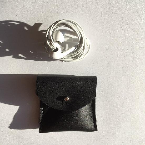 Pochette à écouteurs noire